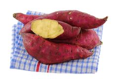 Raw Sweet Potato, clean skin with no dirt Royalty Free Stock Photos