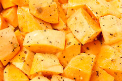 Raw Sweet Potato Cubes Royalty Free Stock Images