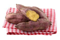 Raw Sweet Potato with dirt on skin Royalty Free Stock Photo