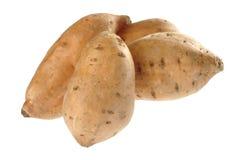 Raw Sweet Potato on White Royalty Free Stock Photos