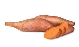 Raw sweet potatoes Stock Photography