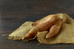 Raw sweet potatoes Royalty Free Stock Photos