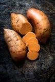 Raw sweet potatoes Royalty Free Stock Photography