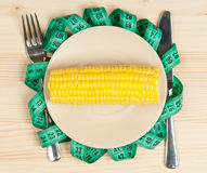 Raw sweetcorn Stock Photography