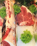 Raw T-Bone steak Stock Photos