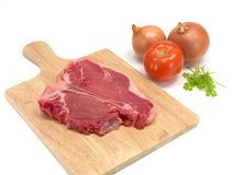 Raw T Bone Steak Stock Photo