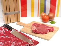 Raw T Bone Steak Royalty Free Stock Photos