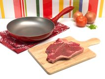 Raw T Bone Steak Stock Photography