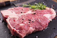 Raw T-Bone Steak Royalty Free Stock Image