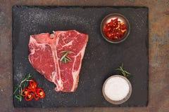 Raw T-bone steak Royalty Free Stock Image