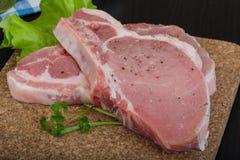 Raw t-bone steak Stock Photos
