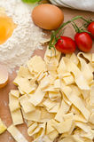 Raw tagliatelle Stock Photo