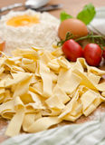 Raw tagliatelle Stock Photos