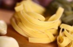 Raw Tagliatelle Pasta Stock Image