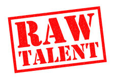 RAW TALENT. Red Rubber Stamp over a white background Royalty Free Stock Photography