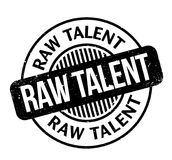 Raw Talent rubber stamp. Grunge design with dust scratches. Effects can be easily removed for a clean, crisp look. Color is easily changed Stock Images