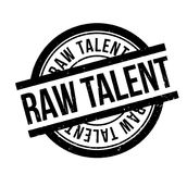 Raw Talent rubber stamp. Grunge design with dust scratches. Effects can be easily removed for a clean, crisp look. Color is easily changed Stock Photo
