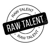 Raw Talent rubber stamp. Grunge design with dust scratches. Effects can be easily removed for a clean, crisp look. Color is easily changed Stock Photos