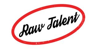 Raw Talent rubber stamp. Grunge design with dust scratches. Effects can be easily removed for a clean, crisp look. Color is easily changed Stock Photography