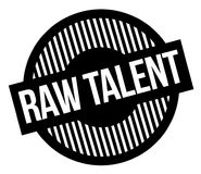 Raw talent typographic stamp. Black circular stamp series Royalty Free Stock Photos