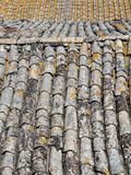 Raw texture of roof tiles Royalty Free Stock Images