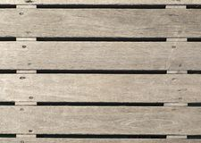 Raw texture of rough wood. Taken from the deck on an ancient pier used as a background Royalty Free Stock Photography