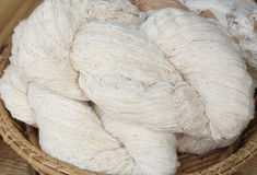 Raw thai cotton thread Royalty Free Stock Photos