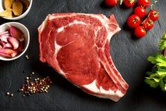 Raw thick rib Stock Photo