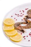 Raw tiger shrimps Royalty Free Stock Photo