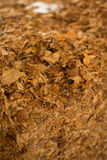 Raw tobacco cube Royalty Free Stock Photography
