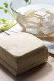 Raw Tofu stock photography