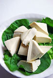 Raw tofu. Isolated on white background Stock Photo