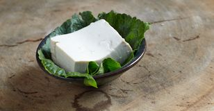 Raw tofu. Healthy vegetarian chinese food soy tofu Stock Photo
