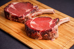 Raw Tomahawk Steak Royalty Free Stock Image