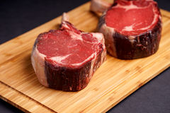 Raw Tomahawk Steak Stock Image