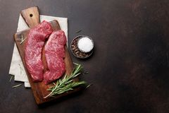 Raw top blade or denver steak royalty free stock photo