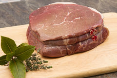 Raw top side of beef Stock Photography
