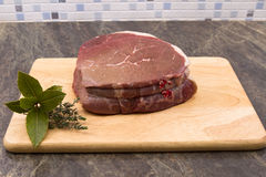 Raw top side of beef Stock Image