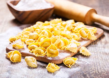 Raw tortellini Royalty Free Stock Photo