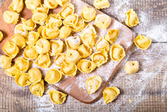 Raw tortellini Stock Images