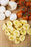 Raw tortellini pasta Royalty Free Stock Images