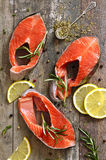 Raw trout. Stock Photography