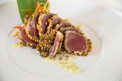 Raw tuna Stock Image