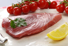 Raw tuna fillet Stock Photography