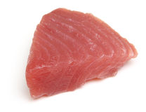 Raw Tuna Fish Steak Isolated on White Royalty Free Stock Photography