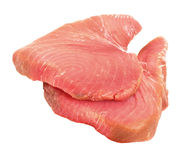 Raw tuna fish steaks Royalty Free Stock Photo