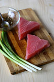 Raw Tuna Fish Steaks Stock Photography