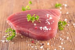 Raw tuna fish Royalty Free Stock Photos