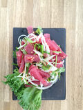 Raw tuna spicy salad Royalty Free Stock Photo