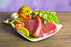 Raw tuna steak Stock Image